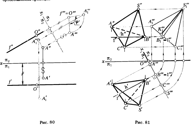 Лекция 4. Способы преобразования ортогонального чертежа ...